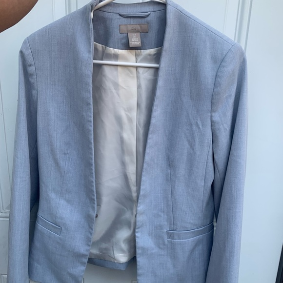 H&M baby blue blazer NWT